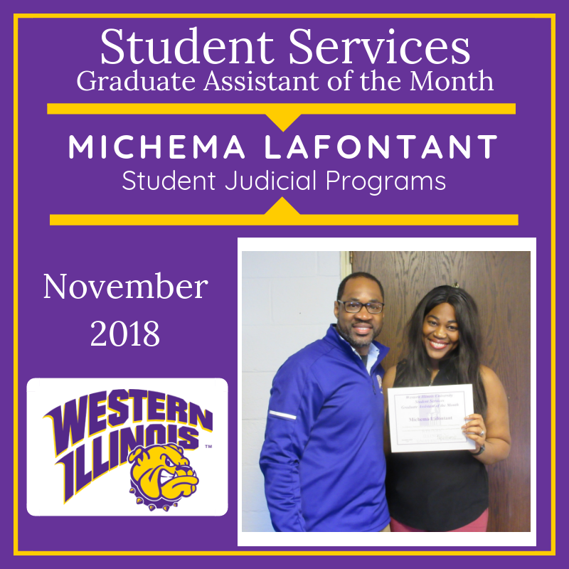 Graduate Assistant of the Month: Michema Lafontant, Student Rights, Responsibilities, and Retention Initiatives