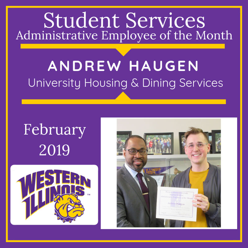Administrative Employee of the Month: Andrew Haugen, University Housing and Dining Services
