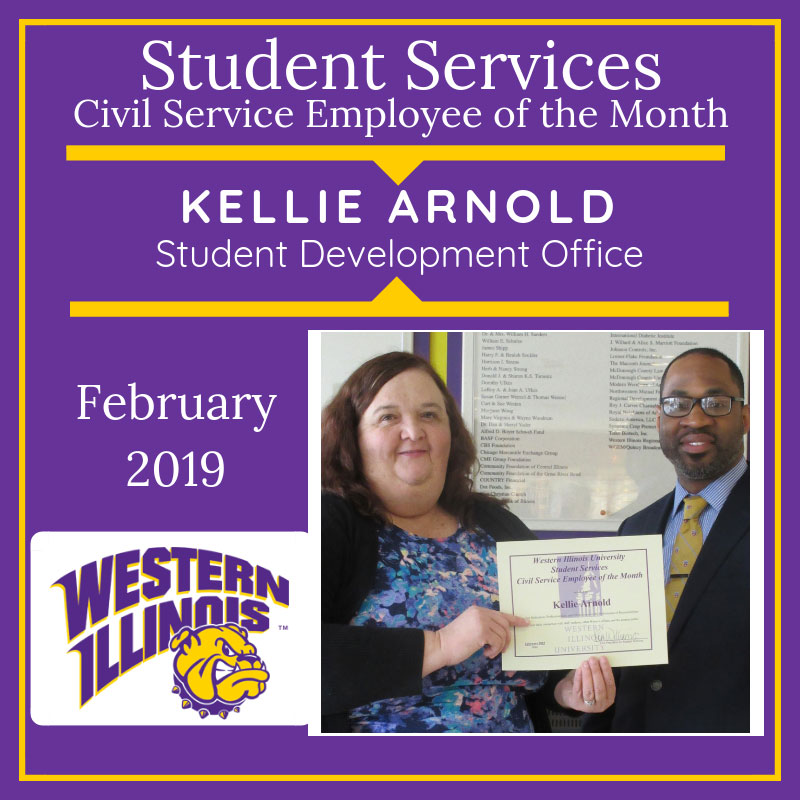 Civil Service Employee of the Month: Kellie Arnold, Student Development Office