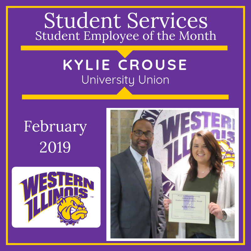Student Assistant of the Month: Kylie Crouse, University Union, Scheduling Office