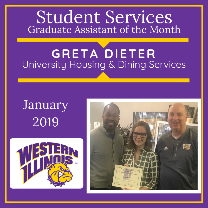 Graduate Assistant of the Month: Greta Dieter, University Housing and Dining Services