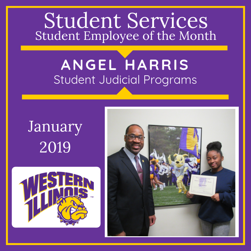 Student Assistant of the Month: Angel Harris, Student Rights, Responsibilities, and Retention Initiatives