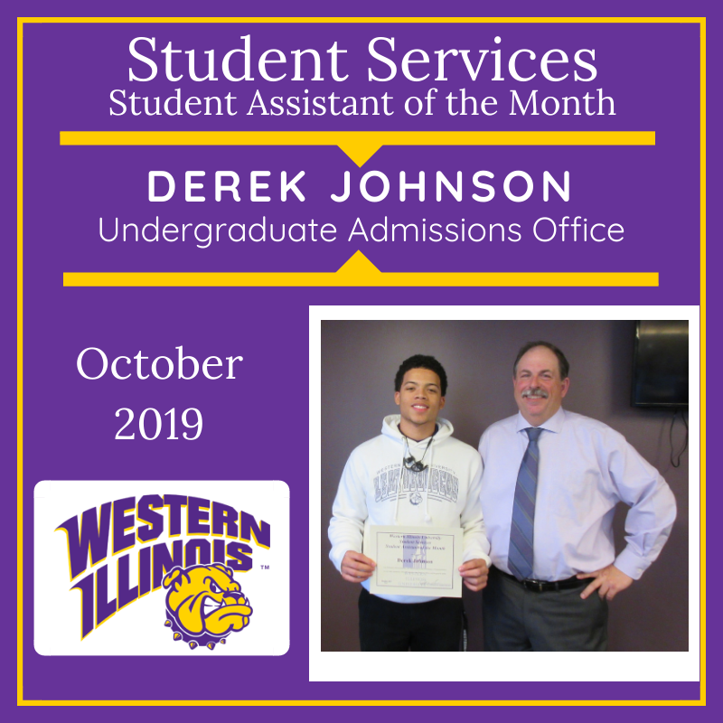 Student Assistant of the Month: Derek Johnson, Undergraduate Admissions Office