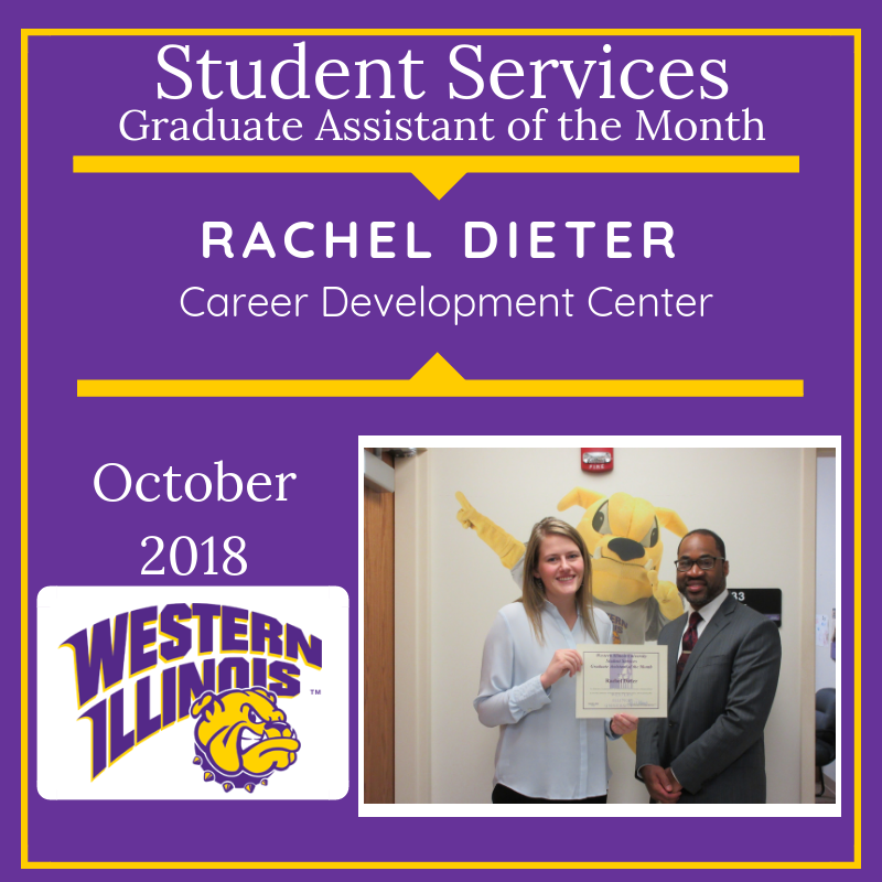 Graduate Assistant of the Month: Rachel Dieter, University Counseling Center