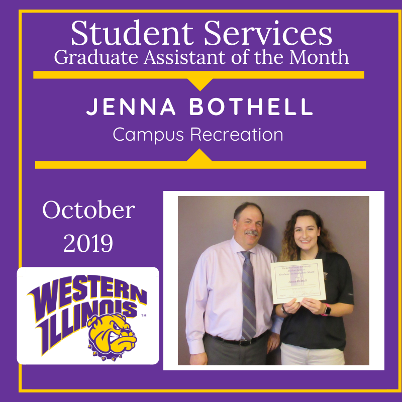 Graduate Assistant of the Month: Jenna Bothell, Campus Recreation