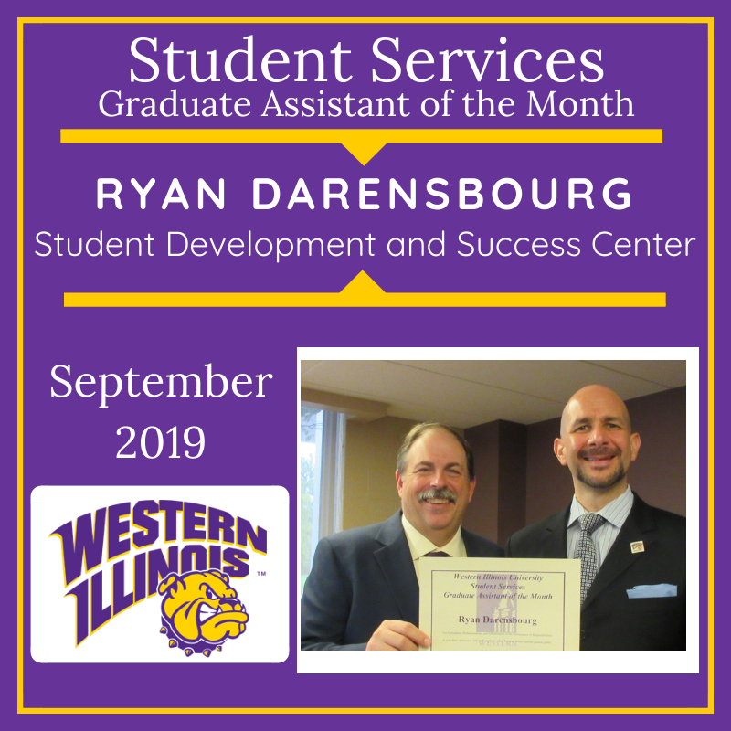 Graduate Assistant of the Month: Ryan Darensbourg, Student Development and Success Center