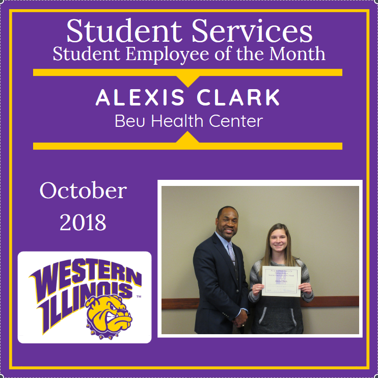 Student Assistant of the Month: Delilah Sanders, Alexis Clark, Beu Health Center