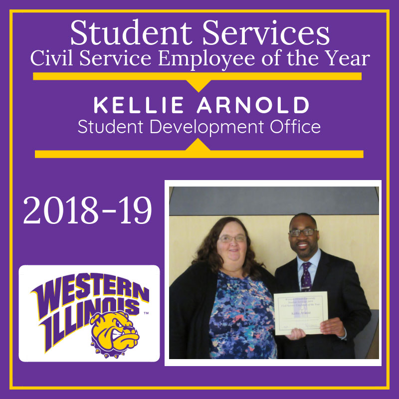 Civil Service Employee of  the Year: Kellie Arnold, Student Development Office