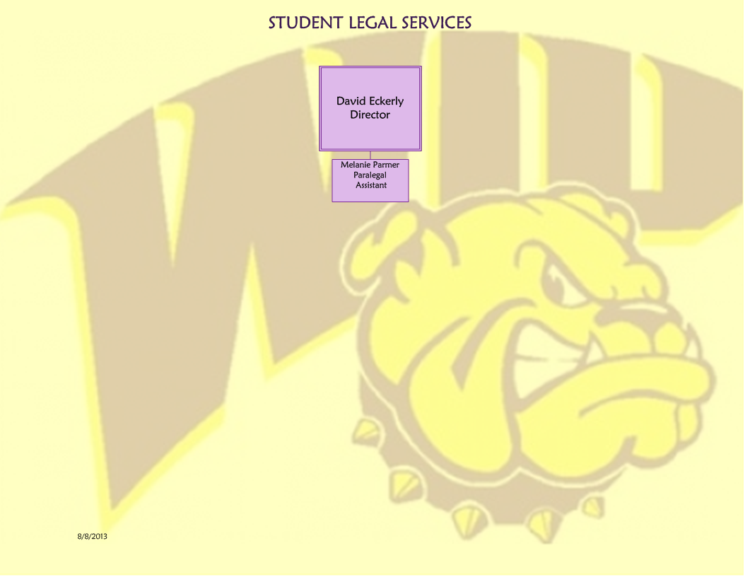 Student Legal Services Organizational Chart