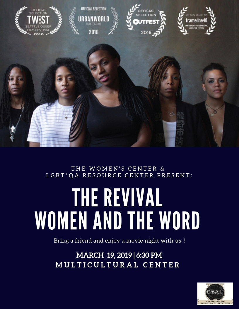 The Revival Screening on 3/19 at 6:30pm in the Multicultural Center