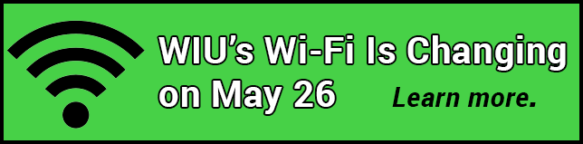 WIU's Wi-Fi is changing on May 26