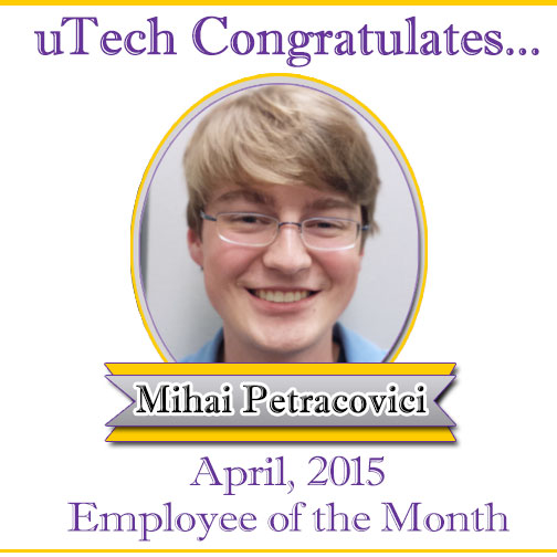 April Employee of the Month, Mihai Petracovici.