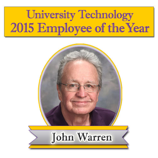 2015 Employee of the Year, John Warren.