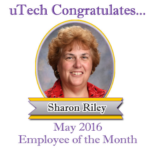 May 2016 Employee of the Month, Sharon Riley.