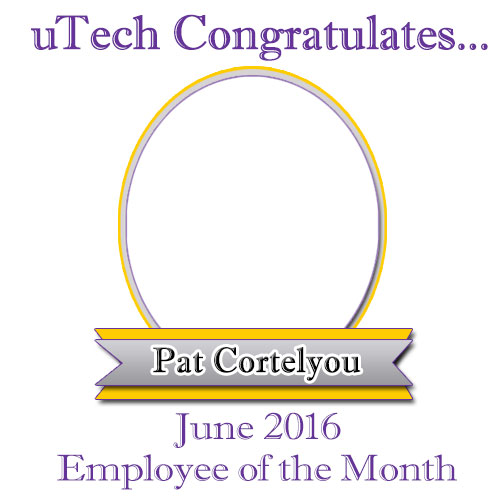 June 2016 Employee of the Month, Pat Cortelyou.