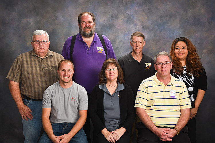 Back row L-R: Tim Etter, Doug Menke, Andy Woerly, Monica Bartley; Front row L-R: Lance Myers, Kathy Barrett, Doug Rossio