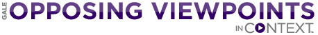 Screen shot of the logo for the Gale Opposing Viewpoints database.