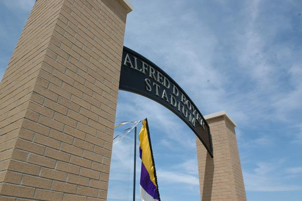 Alfred D Boyer Stadium Sign