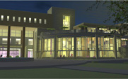 University Union, North side, Middle section, at night (Proposed Rendering)