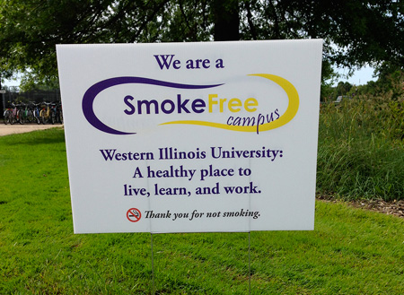 We Are a Smoke Free Campus sign