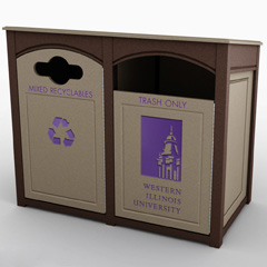 Outdoor Recycling Bins
