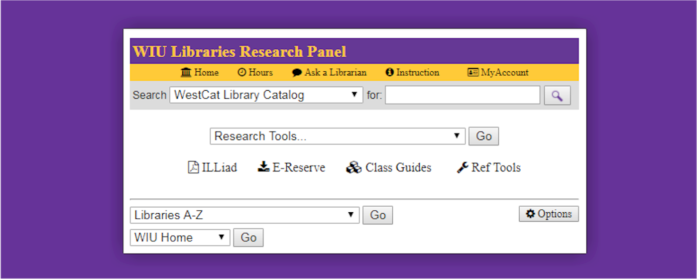 An image of WIU Libraries Research Panel