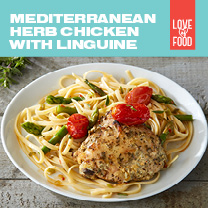 Mediterranean Herb Chicken with Linguine
