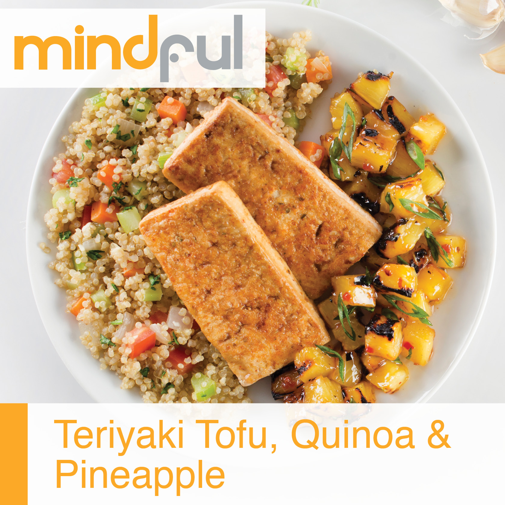 Teriyaki Tofu, Quinoa and Pineapple