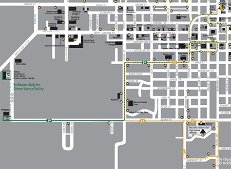screenshot of Route 12 - South PDF map