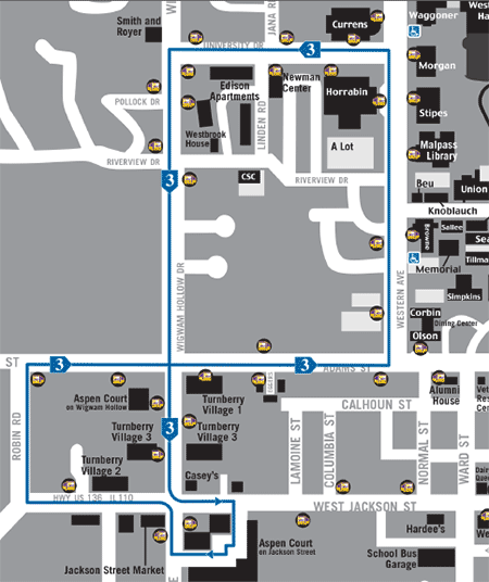 screenshot of Route 3 - Blue PDF map