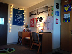 Photo of the inside of a dorm room
